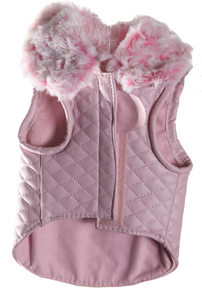 Girl Dogs Jacket | Pink Quilt Jacket