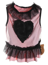 Load image into Gallery viewer, Pink Fur Heart Dress -