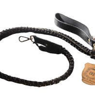Handmade Braided Dog Leashes - Black/Ivory