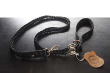Load image into Gallery viewer, Handmade Braided Dog Leashes - Black/Grey