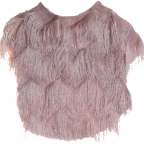 Fringe Jacket - Blush