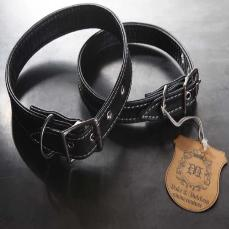 Black Ostrich Dog Collar