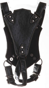 Black Ostrich Dog Harness