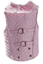 Load image into Gallery viewer, Girl Dogs Jacket | Pink Quilt Jacket