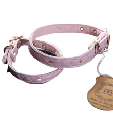 Load image into Gallery viewer, Pink Quilt Dog Collar