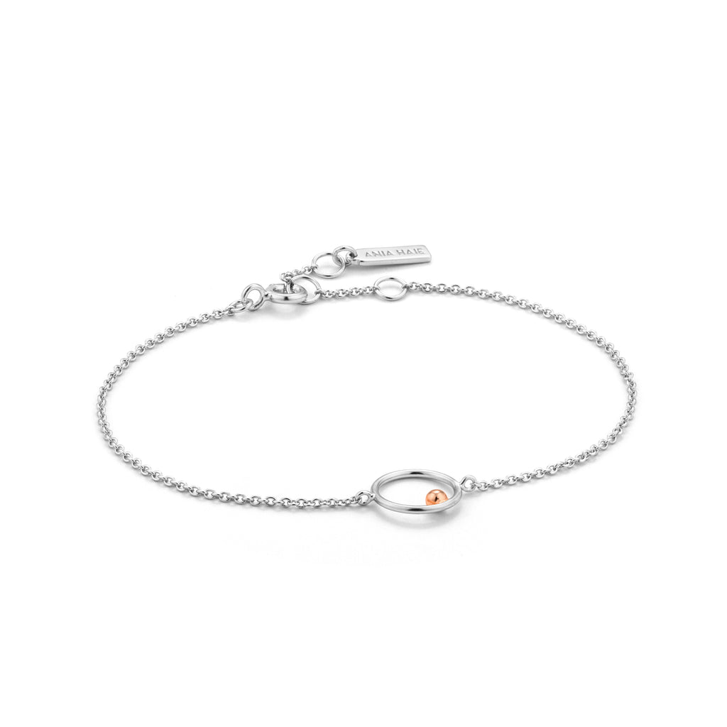 Armbånd Chain Circle Rose