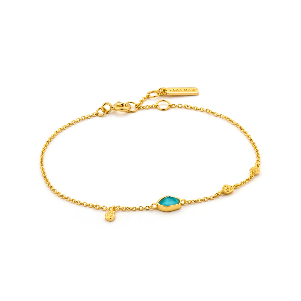 NYHET Armbånd Turquoise Discs