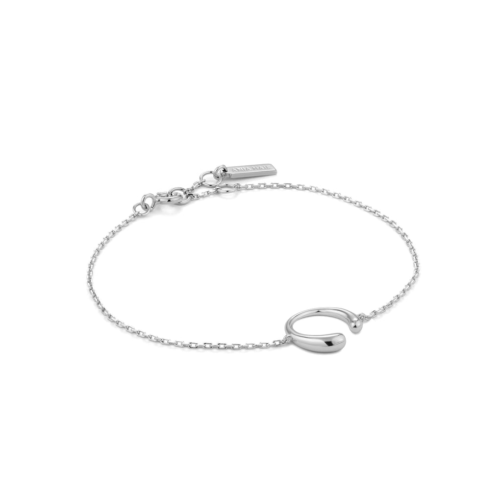 Armbånd Luxe Curve Silver