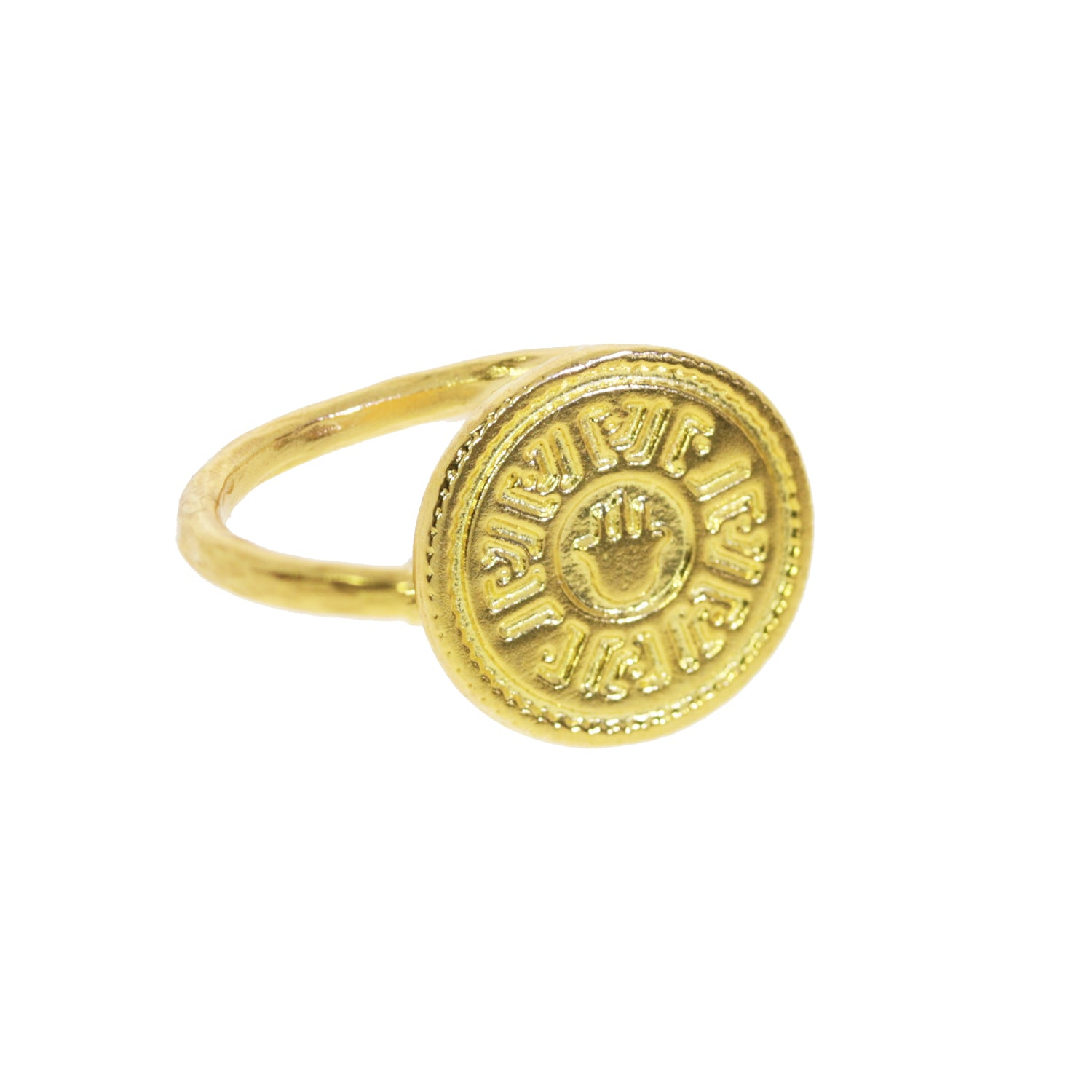 Ring Gold Medallion