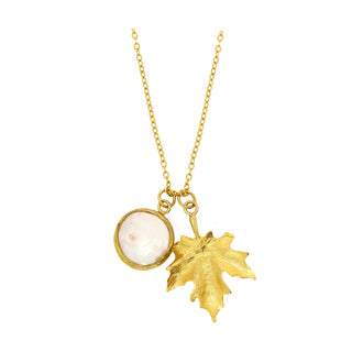 Smykke Maple Leaf Charm Necklace