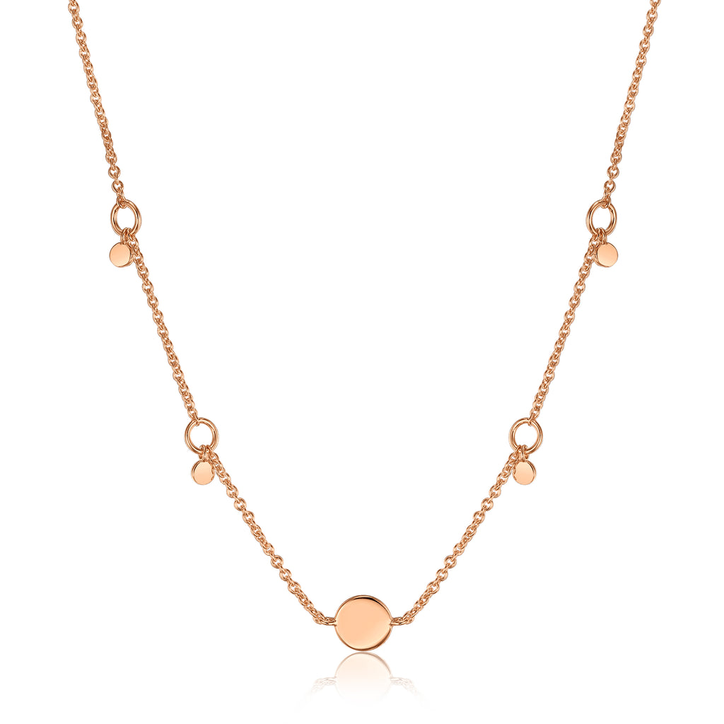 Smykke Circle Pendant Rose