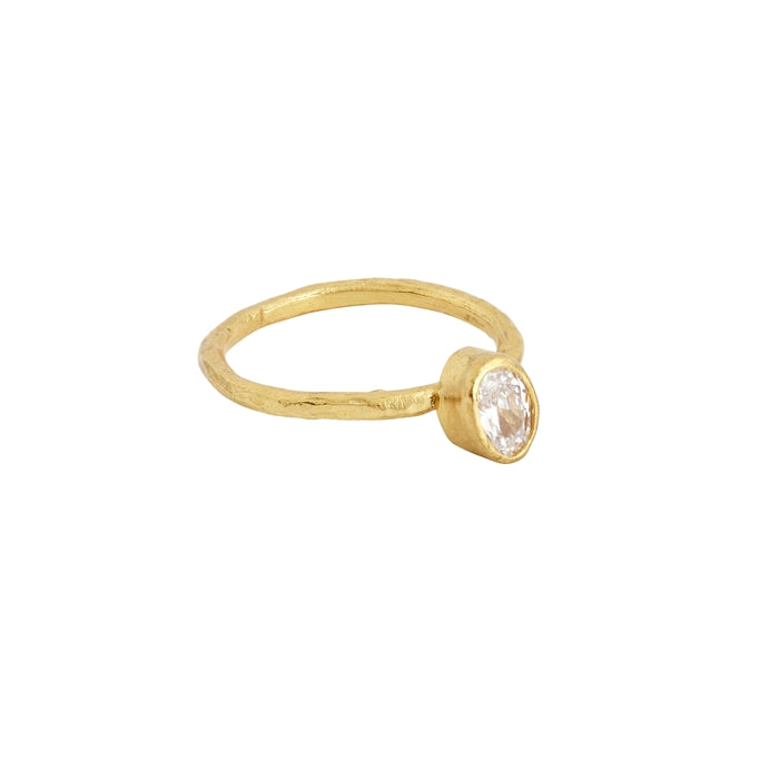 Ring Everyday White Crystal Stacker