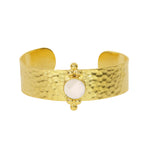 Armbånd Gold Chalcedony Cuff