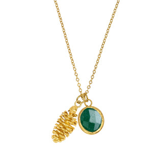 Smykke Pine Cone Charm Necklace