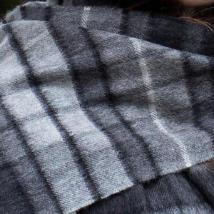 Skjerf 100% kashmir. For menn. Grey Check