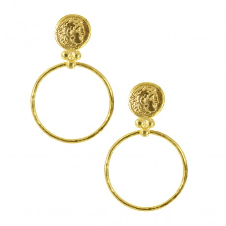 NYHET Øredobber Coin and Hoop Earrings