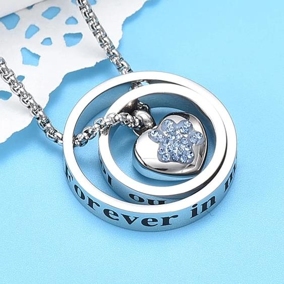 No Longer By My Side ,Forever In My Heart Pet Memorial Pendant