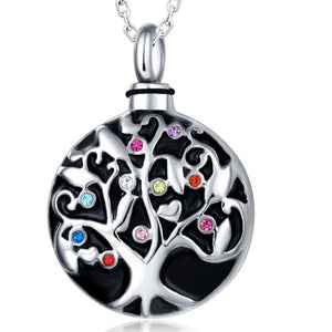 Stainless Steel Family Tree Pendant