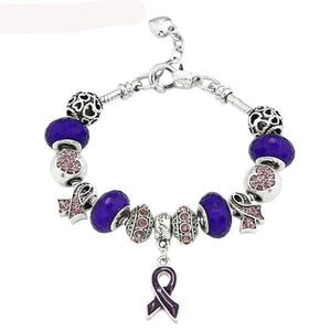Breast Cancer Awareness Pink Ribbon Bracelet