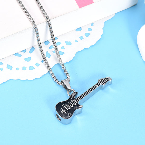 Stainless Steel Electric Guitar Pendant