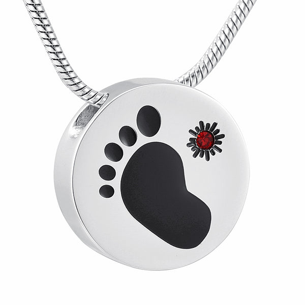 Footprint Stainless Steel  Pendant