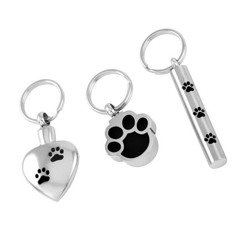 3 PCS A SET Heart /Paw /Cylinder Shape Pet Keepsakes