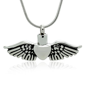 Stainless Steel Angel Wing Heart