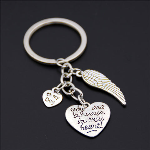 """You Are Always In My Heart"" Key Chains"