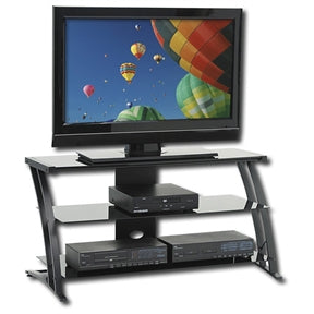 Black Modern Flat Screen Panel TV Stand / Entertainment Center