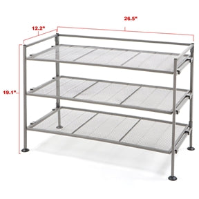 Iron 3-Tier Folding Shoe Rack