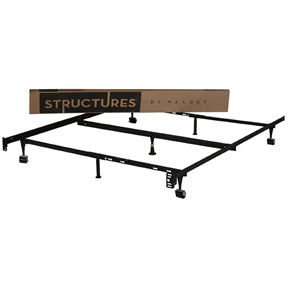 Heavy Duty Adjustable Metal Bed Frame Fits Twin Full and Queen