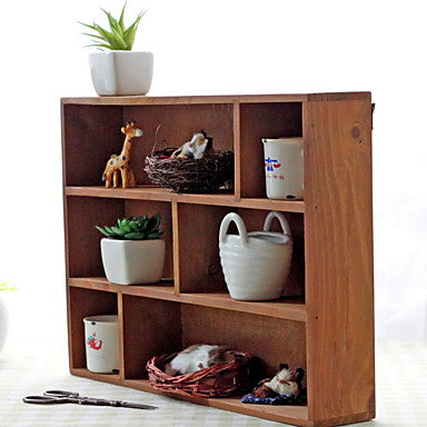 Wooden/Bamboo Envelope / Rectangular Multifunction Home Organization, 1pc Storage Cabinets #06537394