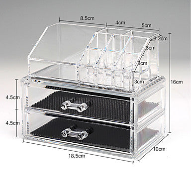 Cosmetic Box Others Makeup Storage Solid Quadrate Acrylic #05860321