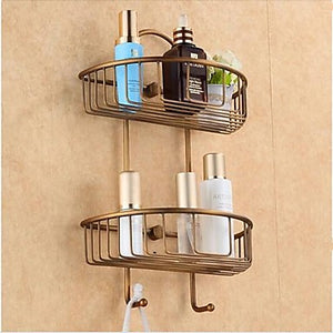 Bathroom Shelf Antique Brass 1 pc - Hotel bath #01784058