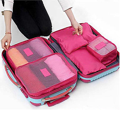 Textile Plastic Oval Novelty Multi-functional Home Organization, Six-piece Suit Storage Bags #06323263