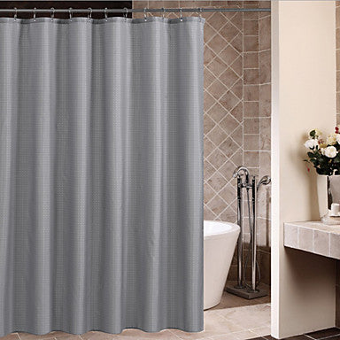 Shower Curtains Neoclassical Polyester Plaid Machine Made #05517775