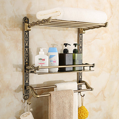 Bathroom Shelf Neoclassical Zinc Alloy 1 pc - Hotel bath #05674237