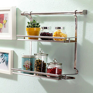 1pc Spice Racks Stainless Steel Easy to Use Kitchen Organization #06273836