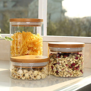 Glass High Quality Food Storage 3pcs Kitchen Organization #06498775