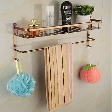 Bathroom Shelf Contemporary Aluminum / Zinc Alloy 1 pc - Hotel bath #04952630