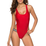 Spaghetti Strap Backless Glitter One Piece
