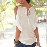 Scopp Neck Cutout Plain T-Shirt