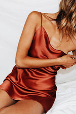 Sexy Spaghetti Strap Backless Plain Comfy Dress