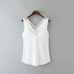 V Neck Asymmetric Hem Plain Vests