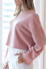 Round Neck Loose Fitting Plain Sweatshirt