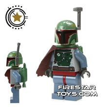 Load image into Gallery viewer, LEGO Star Wars Minifigure Boba Fett Helmet and Cape