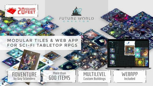 Future Worlds: Modular Tiles For Boardgames Kickstarter Indisponibil in Romania - Veve Geek