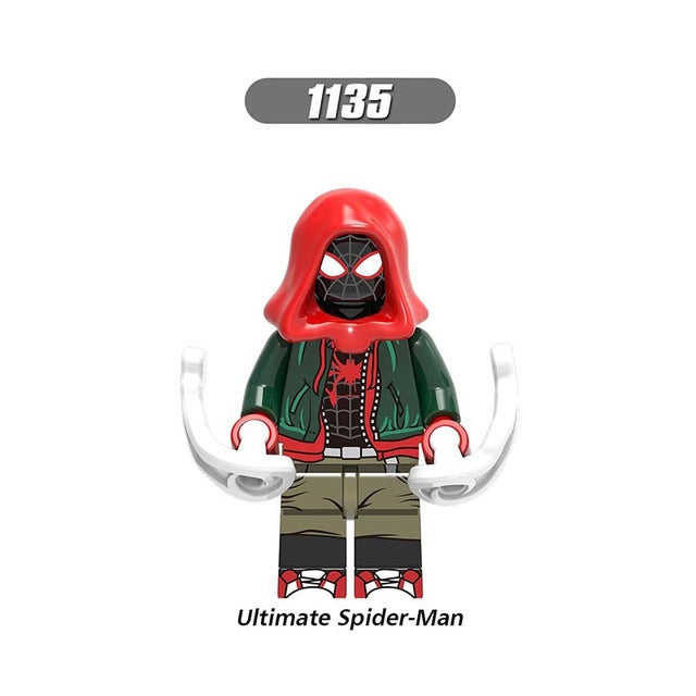 Single Sale LegoINGlys Super Heroes Figures Spider-Man  Spider-Verse Gwen Miles Scorpion Building  Bricks  Toys Children X0241 - Veve Geek