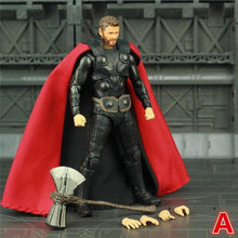 "Load image into Gallery viewer, New Marvel Avengers Infinity War Endgame THOR 6"" Action Figure With Storm Breake Mjolnir KO's SHF Legends Odinson Doll Toys - Veve Geek"