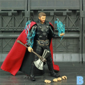 "New Marvel Avengers Infinity War Endgame THOR 6"" Action Figure With Storm Breake Mjolnir KO's SHF Legends Odinson Doll Toys - Veve Geek"